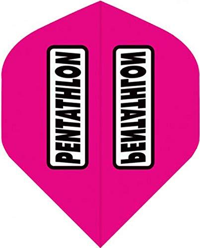 abcdarts Unisex Erwachsene Pentathlon Classic Dart Flights, Pink, Klassische EU