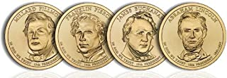 2010 P Presidential Dollar 2010 P Complete Set of all 4 Presidential Dollars Uncirculated Uncirculated