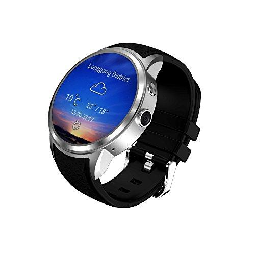 MTSBW SmartWatch Phone Smart Watch 2Mega píxeles ROM 8GB Soporte 3G WiFi Nano SIM Reproductor de MP3 Android 5.1,Silver