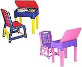 Nilkamal Kids Study Desk table and chair set Junior's Study Table Set for boys and girls (Pink/Purple)
