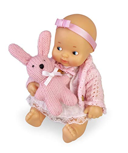 los Barriguitas- Set de bebé con ropita Rosa y Mascota de Punto (Famosa 700015698)