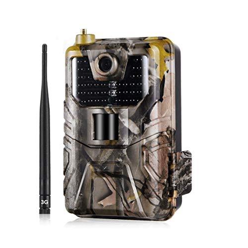 BFZJ 3G MMS SMTP SMS Wildkamera Fotofalle Jagd-Hinterkamera 16MP 1080p Infrarotkameras mit Nachtsicht-Cellular Mobile-Tier-Wireless-Kameras Night Vision Pir, 0.3s Trigger-Geschwindigkeit, IP65