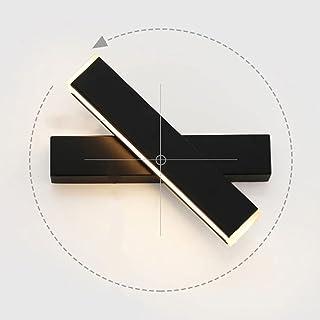 12W Applique Murale LED Lampe Noire Designe Créatif Luminaire Intérieur Rotation de presque 360 degrés Lampe de Mur pour C...