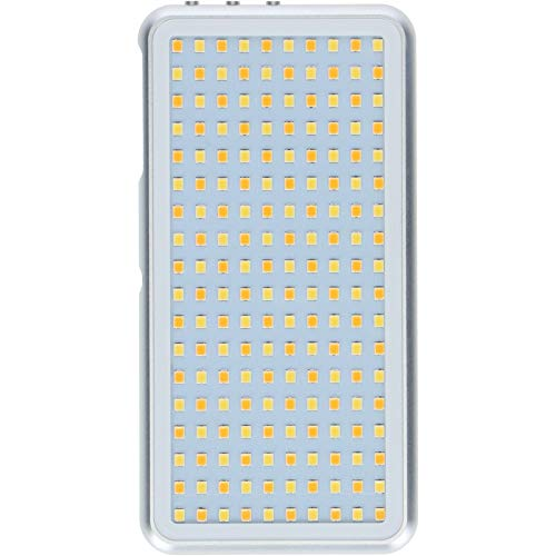 Rollei Lumen Pocket LED Fotolicht I 12W LED Videoleuchte im Smartphone Format I OLED Display, 3200K-5500K, Aluminium Gehäuse, inkl. Blitzschuh-Adapter I Silber