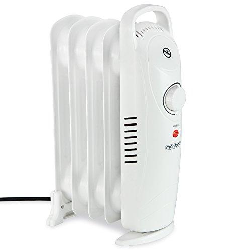 Monzana® Ölradiator 5 Rippen Öl Radiator Elektroheizung Heizer I kurze Aufheizzeit I allergikerfreundlich I Thermostat I elektrisch