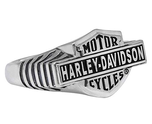 Harley-Davidson H-D Vintage Enamel Full B & S Ring, 10 (19,9mm)