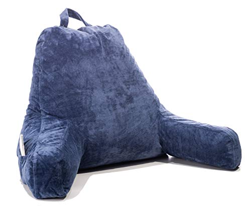 FavFactory Reading Pillow with Arms & Pockets for Sitting Up in Bed - Bedrest Chair Pillow with...