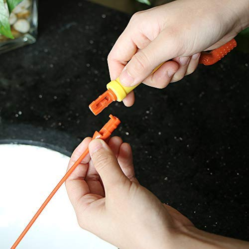 Prenine Kitchen Sewer Sink Bathtub Cleaner Flexible Twist Wand Slim Drain Weasel Hair Removal Anti-Clog Tool
