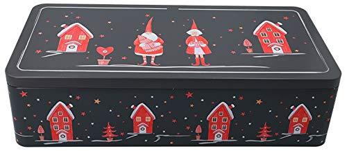 XXL - Gebäckdose für Stollen WINTER WUNDERLAND mit Fächereinsatz (40 x 20 x 9 cm) TOP QUALITÄT