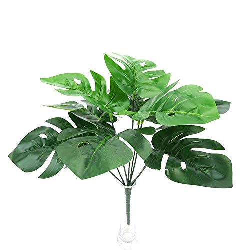 VEVICE - Ramo de Hojas de Palma Tropicales Simulación Artificiales para decoración de Plantas Casa House Garden Office decoración de la fiesta de bodas - Verde