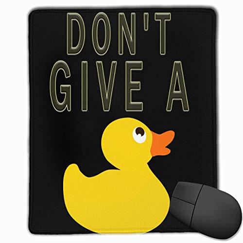 No le dé al Pato Rectángulo Alfombrilla de Goma Antideslizante Mousepad Accesorios para computadora 18 x 22 CM