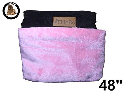 Ellie-Bo Ersatz Hundebett Abdeckung Cord mit Kunstfell Topping, 122cm, 117x 75cm, 2x große, Pink/Braun