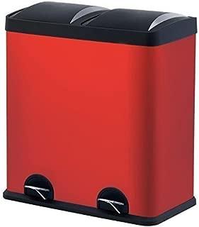 Step N' Sort 900602R 16 Gallon, RED Dual Trash and Reclying Bin,