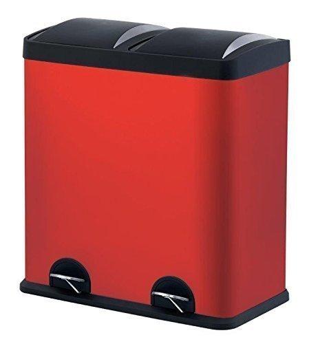 Step N' Sort 900602R 16 Gallon, RED Dual Trash and Reclying Bin