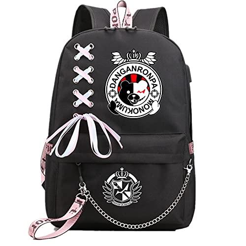 ISaikoy Anime Danganronpa Backpack Satchel Bookbag Daypack School Bag Shoulder Bag