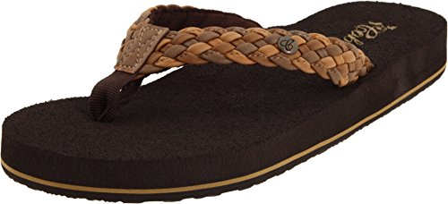 Cobian Women's Braided Bounce Natural Sandals, 8