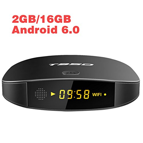 Android 6.0 TV Box 2GB RAM 16GB ROM T95D Media Player with 4K Full HD WiFi Bluetooth HDMI 2.0 Ethernet