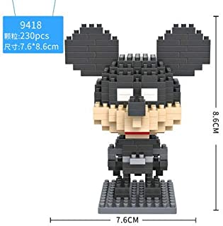 LOZ Micky Mouse Batman Diamond Mini Building Micro Block Brick Headz Baseplate DIY Figurine Bobble Head Collectible Developmental Toys Model Comics Collection Chistmas Gifts for Kids … …
