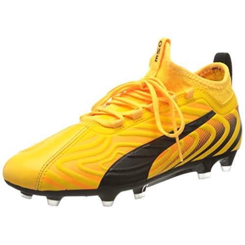 PUMA One 20.3 FG/AG JR, Scarpe da Calcio Unisex-Bambini, Giallo (Ultra Yellow Black/Orange Alert), 37 EU