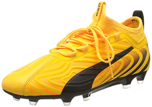 PUMA Unisex One 20.3 Fg/ag Jr Fußballschuhe, Gelb (Ultra Yellow Black-Orange Alert 01), 37 EU