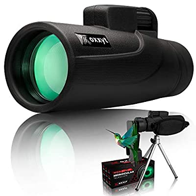 Oxxyt Monocular Telescope 12X50, BAK4 Prism, FMC Lens, Perfect for Outdoor Bird Watching, Monocular Telescope for Smartphone with Phone Holder & Tripod, Monoculars for Adults High Powered