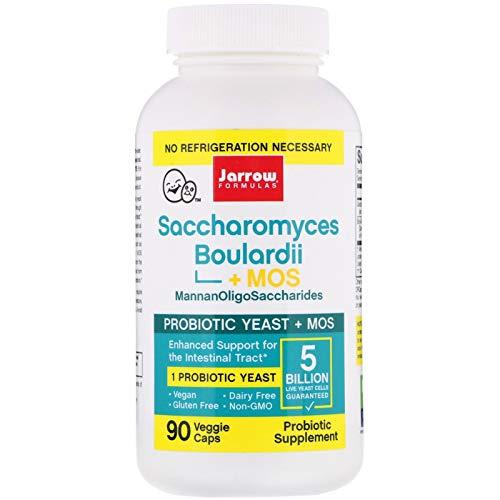 Jarrow Formulas Saccharomyces Boulardii + Mos (5 Billion Per Capsule, 90 Vegan Capsules), 200 g - Lot of 3