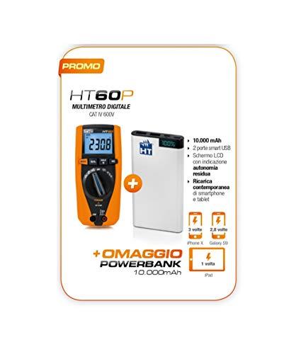 HT60P Promo HT60 Multimeter Digital TRMS Powerbank 10000mAh 2 poorten USB opladen smartphone tablet