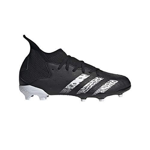 adidas Predator Freak .3 FG J, Zapatillas de fútbol, NEGBÁS/FTWBLA/NEGBÁS, 38 2/3 EU