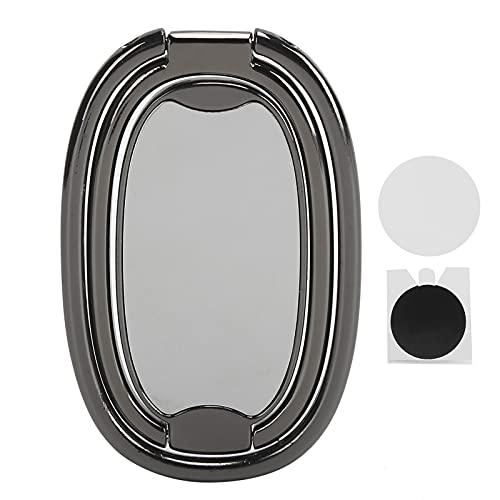 ASHATA Soporte para teléfono con rotación de 360 Grados Soporte magnético para teléfono Soporte para teléfono Inteligente Soporte para Anillo de Dedo para teléfono Inteligente(Black)