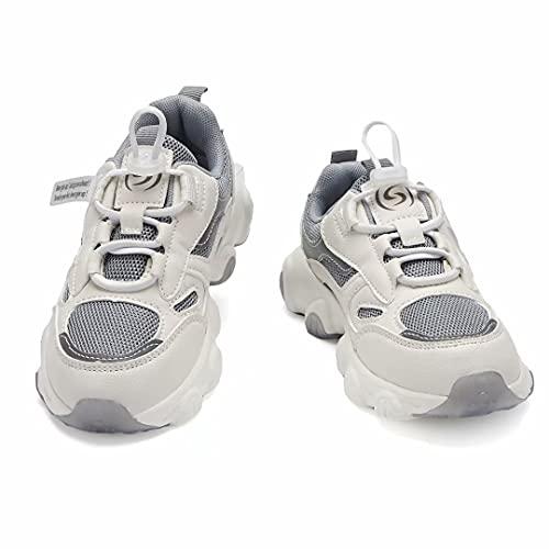Shoful Zapatos para niños y niñas, tenis para correr, zapatos de senderismo para niños al aire libre, tenis de moda antideslizantes (grandes/pequeños/niños pequeños), color Gris, talla 26 EU
