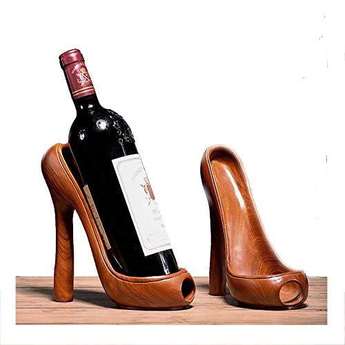 YOLANDE Creativa de tacón Alto Europea Titular de la Botella portátil Estante del Vino decoración del hogar Adornos Crafts 1 Pares