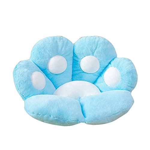 Dastrues Cat Paw Seat Cushion, Sofa Office Chair Cushion, Warm Skin-Friendly Chair Pad, Blue/Gray/Pink/Light Blue/Brown Seat Cushion