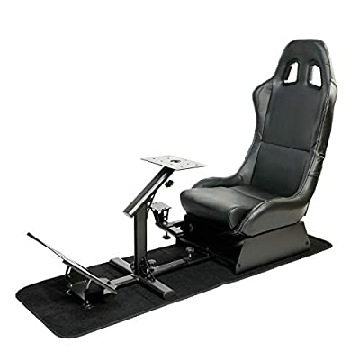 Racing Seat Gaming Chair Simulator Cockpit Steering Wheel Stand for Logitech G29 Thrustmaster Xbox Playstation PS4