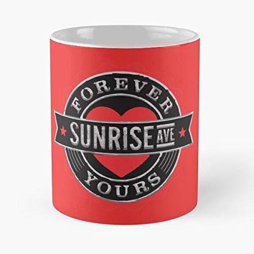 xuthonaz Band Theory Avenue Ave Group Sunrise Big Musical Best 11 oz Kaffeebecher - Nespresso Tassen Kaffee Motive