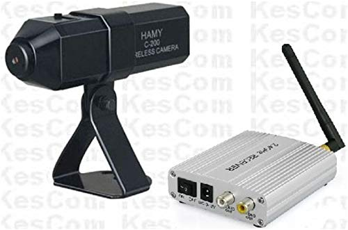 KesCom® 830D Mini Farb Funk Kamera mit Ton und 4 Kanal Empfänger