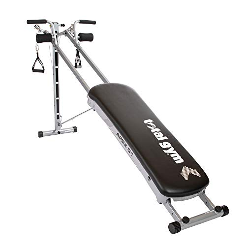 Total Gym APEX G1 Versatile Indoor Home Workout Total Body Strength Training Fitness Equipment with 6 Levels of Resistance and Attachments