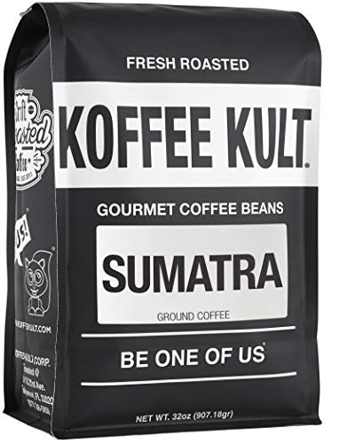 Koffee Kult Sumatra Mandheling Ground Coffee - Fresh Roasted Coffee by Koffee Kult (32oz)