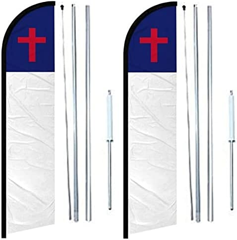 Christian windless banner Flag pack Philadelphia Mall of Po Hybrid Max 47% OFF Complete With 2