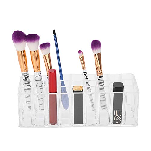 Boîte à bijoux pour femmes, 27 Grille Boîte de rangement cosmétique Cas cosmétique Nail Brush Container Maquillage Organisateur d'affichage