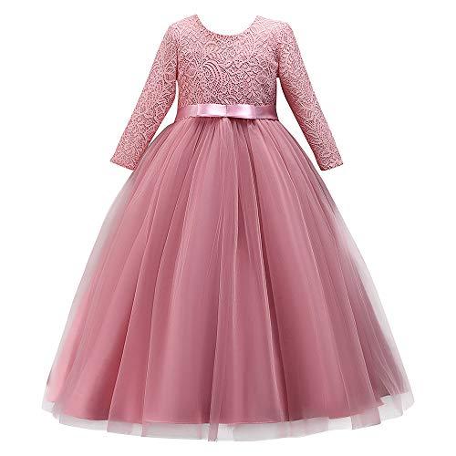 Likecrazy Mädchen Spitze Kleid Kind Langarm Prinzessin Abendkleid Wedding Pageant Birthday Party...