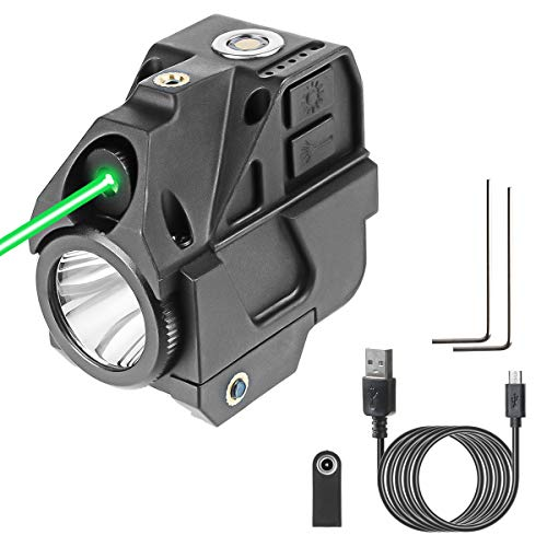 Lasercross New Version CL103 Laser Sight- Magnetic Touch Charging Green Dot Sight,LED Flashlight Combo Build-in Lithium Battery Sights with 20mm Rail Picatinny On/Off Switch for Air Pistol,Airgun