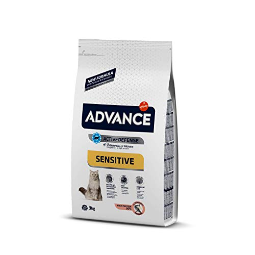 Advance Advance Sensitive Pienso para Gato Adulto con Salmón y Arroz - 3000 gr