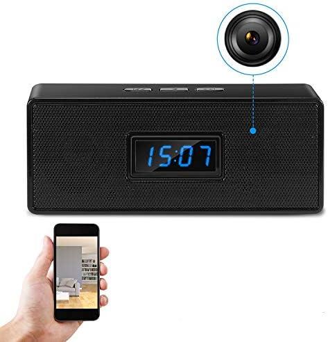 GooSpy Hidden Camera Bluetooth Music Speaker Wireless Spy Camera Clock HD 1080P Wi Fi Nanny product image