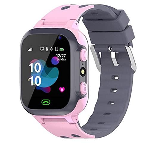 Naisedier Niños Reloj Inteligente P16 Impermeable de la muñeca Juego SmartWatch Localización Tracker con Alarma de la cámara del Reloj de Moda Inteligente SOS Equipo electrónico para Niños Niñas Rosa