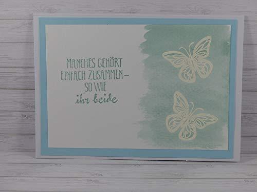 Handmade Karte, Hochzeitskarte, Hochzeit, Hochzeitstag
