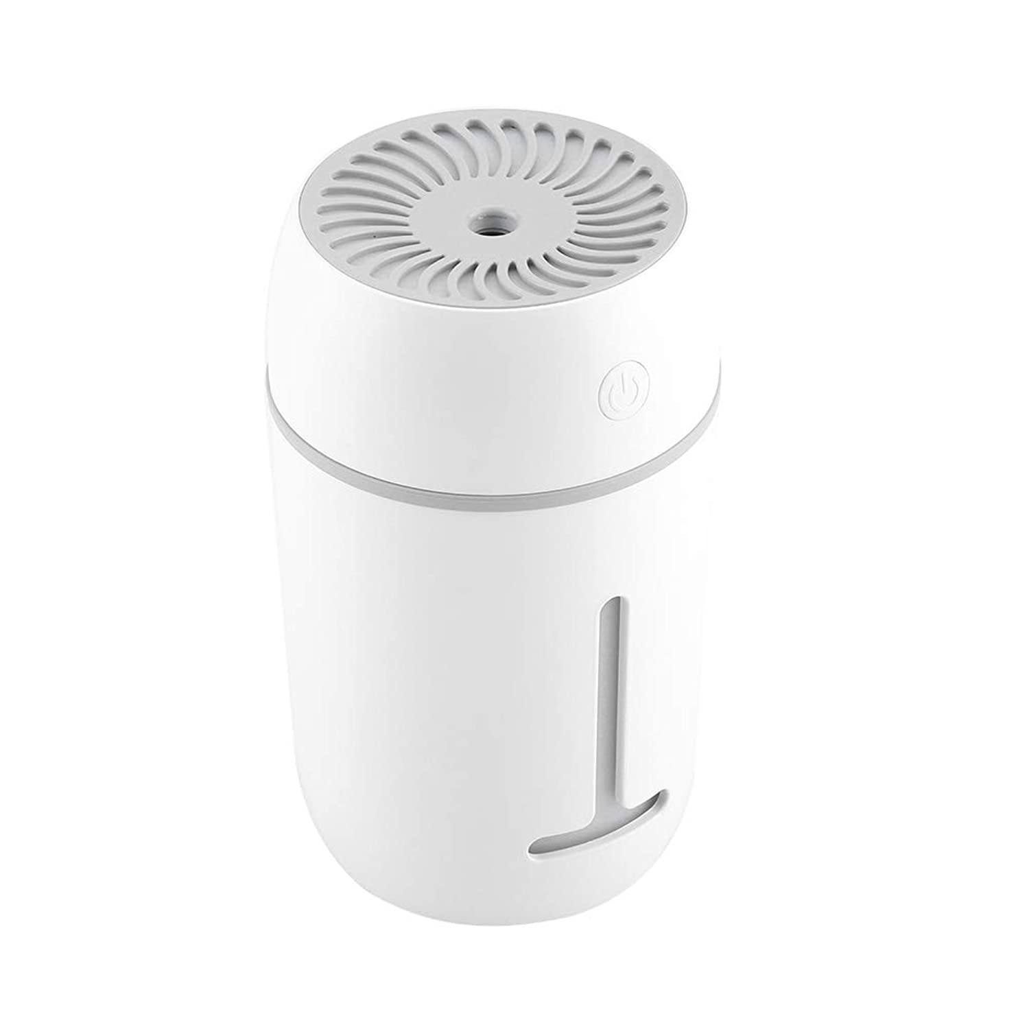 メロドラマティックアイロニーセグメント携帯用加湿器、車のオフィスのためのUSBの再充電可能な携帯用超音波加湿器の拡散器7色LEDライト