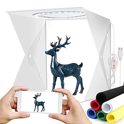Mture Caja de Estudio Fotográfico Caja de Fotografia Portátil Plegable Photo Studio...