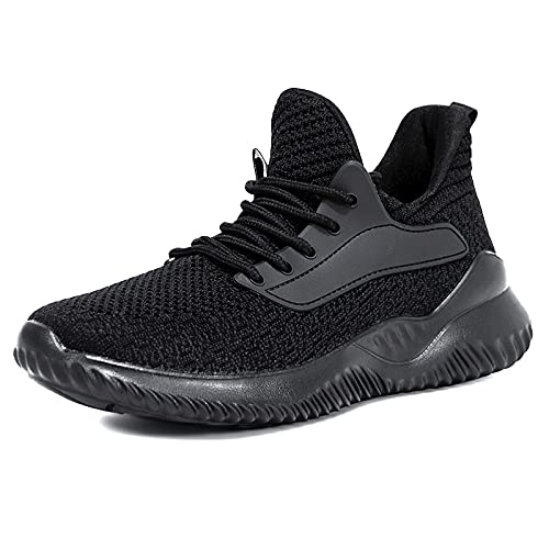 Akk Running Shoes for Men Sneakers - Lightweight Comfy Casual Memory Foam Workout Shoes for Walking Tennis Indoor Outdoor Black Size 11