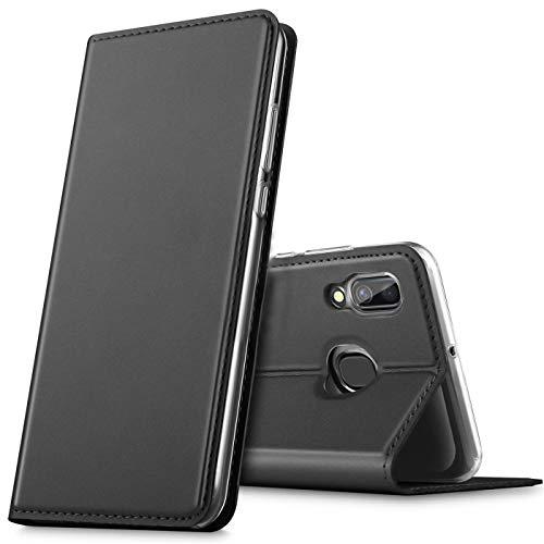 Verco Handyhülle für Galaxy A20e, Premium Handy Flip Cover für Samsung Galaxy A20e Hülle [integr. Magnet] Book Hülle PU Leder Tasche, Schwarz
