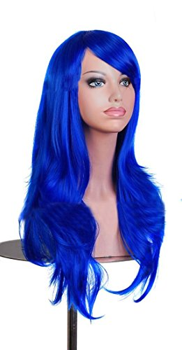 70cm/27.5larga rizado peluca Colore Cabello Peluca Cosplay